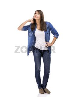 Woman thinking on something