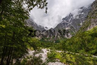Grieß des Eisbaches im Berchtesgadener Land