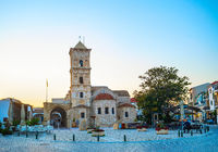 Lazarus church cafe Larnaka Cyprus