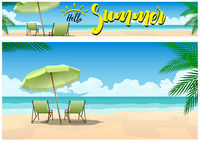 Sommerparadies am Strand Hintergrund und Banner