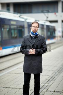 Mund-Nasen-Bedeckung in Jena