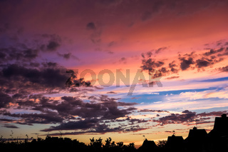 Colourful Sunset over East Grinstead