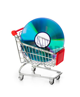 Disk in shopping cart
