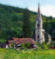 Church in the woods