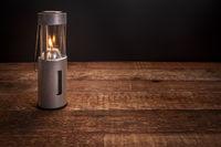 camping candle lantern burning