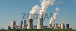 Panoramabild von Kohlekraftwerk