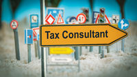 Street Sign to TAX CONSULTANT
