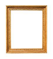 vertical old vintage wooden painting frame