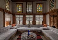 Antique furnitures inside an old home in Gjirokaster, Albania