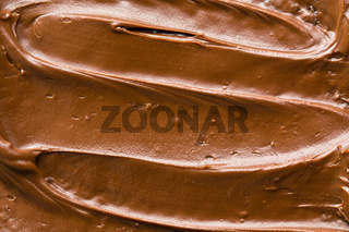 detail of chocolate spread