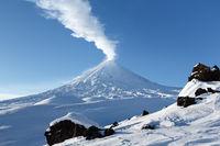 Klyuchevskoy Volcano - active volcano in Kamchatka Peninsula