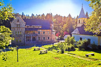 Mountain village of Stara Susica church and historic architecture view