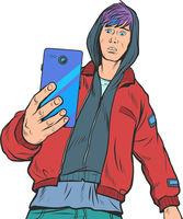 boy teenager with smartphone