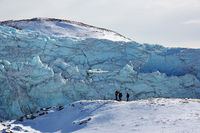 Tourists admire Russell Glacier close to Kangerlussuaq, Destination Arctic Circle..jpg