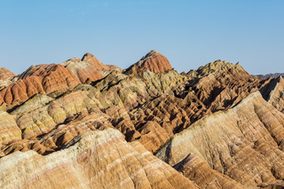 beautiful hilly texture background in zhangye