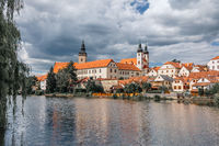 Telc city with dramatic sky