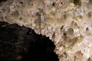 Gipskristalle in einer Höhle