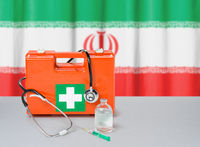 First aid kit with stethoscope and syringe - Iran