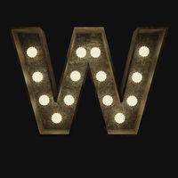 Buchstabe W mit Lampen