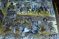 Fresko in der Kirche Abreha wa Atsbaha, Gheralta Region, Tigray, Äthiopien