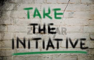Take The Initiative Concept