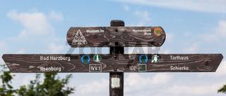 Wegweiser Wandern im Nationalpark Harz