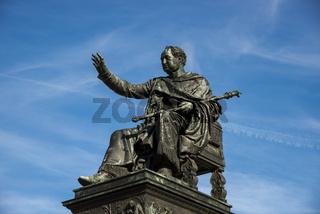 Denkaml König von Bayern, Max I. Joseph, Max-Joseph-Platz, München, Bayern, Deutschland, Europa