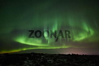 Nordlicht (Aurora borealis), Dundret Naturreservat, Lappland