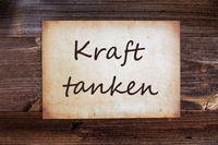 Old Paper, Kraft Tanken Means Relax, Wooden Background