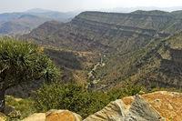 Trockental im Hochland von Abessinien