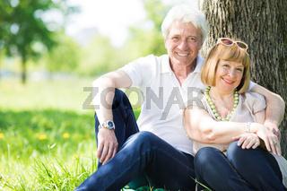 Senior couple enjoying togetherness