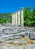 The Temple of Athena Polias in the Ancient Priene, Turkey