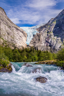 Briksdal glacier in Norway