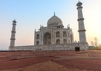 Famous Taj Mahal close view, Agra, India