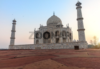 Famous Taj Mahal close view, Agra, India