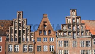 Lüneburg - Giebelhäuser, alt neben neu, Deutschland