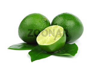 limes pile isolated on white