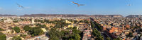 Jaipur aerial panorama, Pink City of India