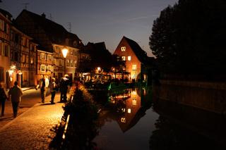 Die Altstadt von Colmar an der Elsaesser Weinstrasse im Elsass im osten von Frankreich in Europa.