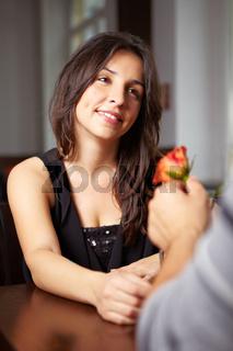 Heiratsantrag im Restaurant