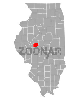 Karte von Menard in Illinois - Map of Menard in Illinois