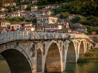 Gorica bridge in the town of a thousand windows, Berat, Albania