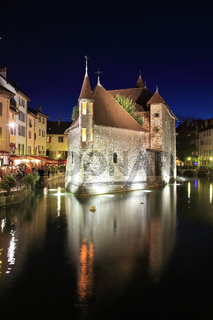 Summer night in the charming medieval town