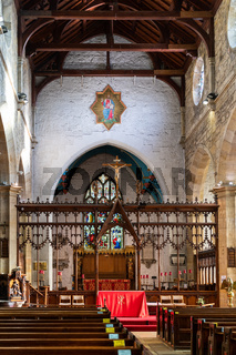 EAST GRINSTEAD, WEST SUSSEX/UK - NOVEMBER 29 : Interior view of St Swithun's Church in East Grinstead West Sussex on November 29, 2019