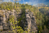 The Elbe Sandstone Mountains are a sandstone massif