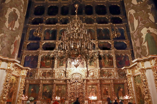 Moscow. Donskoy monastery. Iconostasis of the Great Cathedral