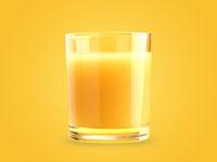 Glass of tasty organic orange juice