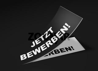 3D Etikett Schwarz - Jetzt bewerben!