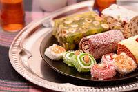 Turkish delight and tea