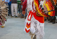 Indian dancer on street